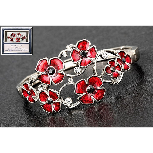 Oval Random Poppies Bracelet