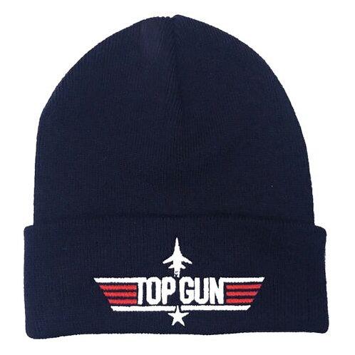 Adult Top Gun Beanie Hat Navy