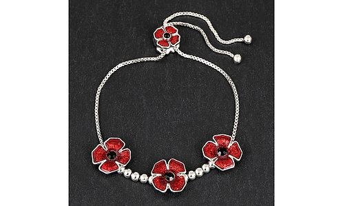 3 Poppies Friendship bracelet