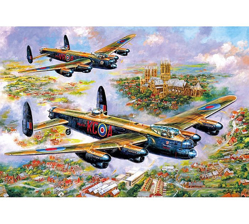 Gibsons Jigsaw puzzle Lancasters over Lincoln