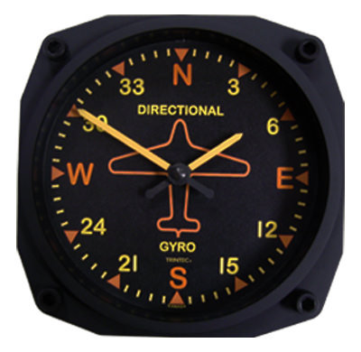 Vintage Directional Gyro  Design Wall Clock