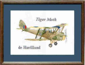 Tiger Moth Cross Stitch Kit