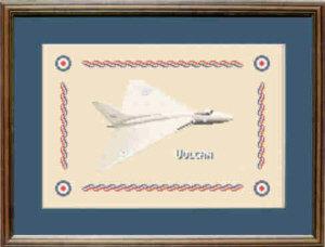 V Bomber Vulcan Cross Stitch Kit