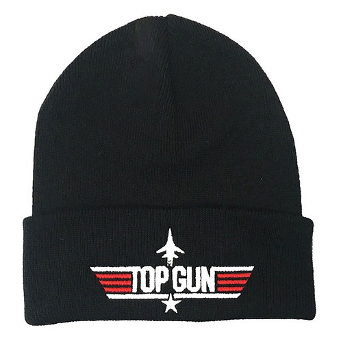 Adult Top Gun Beanie hat Black