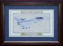 Small Eurofighter Typhoon Cross Stitch Kit