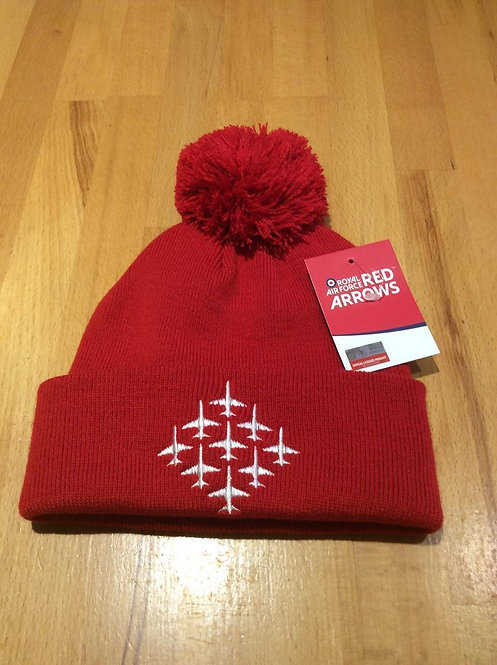 Red Arrows Bobble Hat - Red