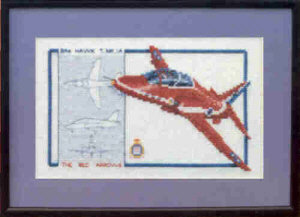 Red Arrows Cross Stitch Kit