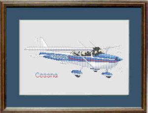 Cessna Cross Stitch Kit