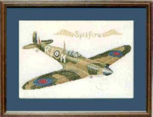Spitfire Cross Stitch Kit