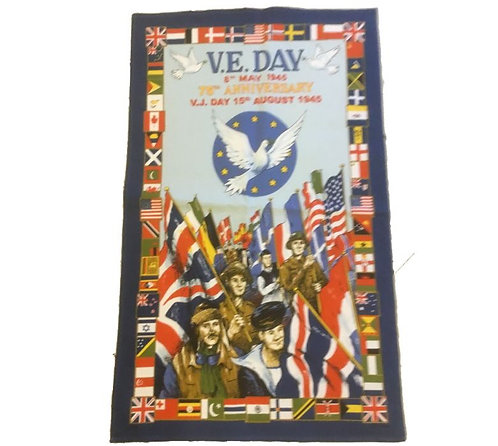 VE Day Tea Towel