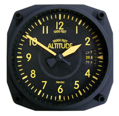 Vintage Style Altimeter Clock