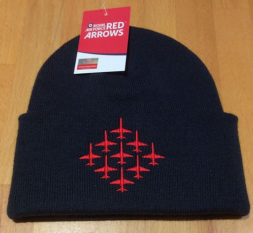 Red Arrows Beanie Hat - Navy Blue