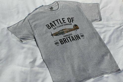 Adult T Shirt RAF Battle of Britain Hurricane