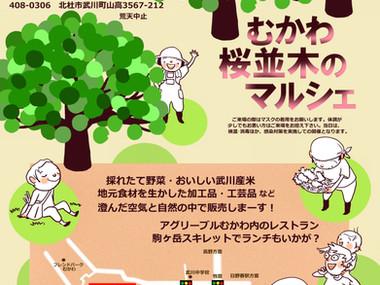 毎月第4日曜日は「むかわ桜並木のマルシェ」♪
