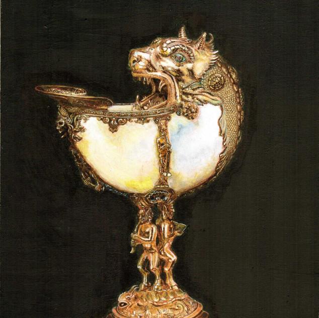 Nautilus cup, Delft, c.1592