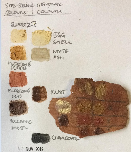 First draft colour chart