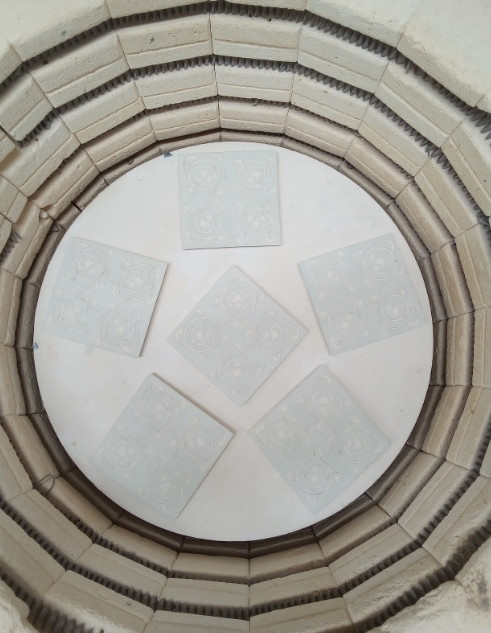 Kiln interior
