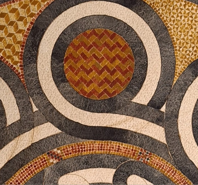 Close up of mosaic patterns