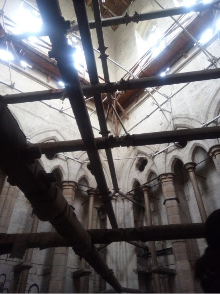 Reinforcing inside Salisbury Cathedral spire (c.1266 - present)
