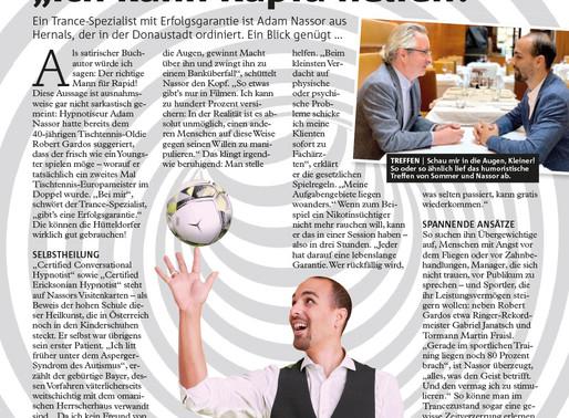 Robert Sommer im Wiener Bezirksblatt