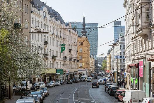 Die Taborstraße im 2. Bezirk in Wien