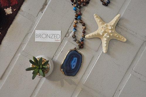 Blue Druzzy Necklace