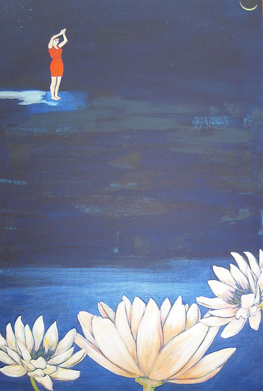 """Diving In 40"""" x 30"""" sold"""