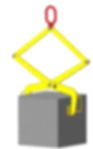 Захват для блоков прямоугольной формы