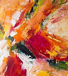 Anne Holland. Jazz III, oil.