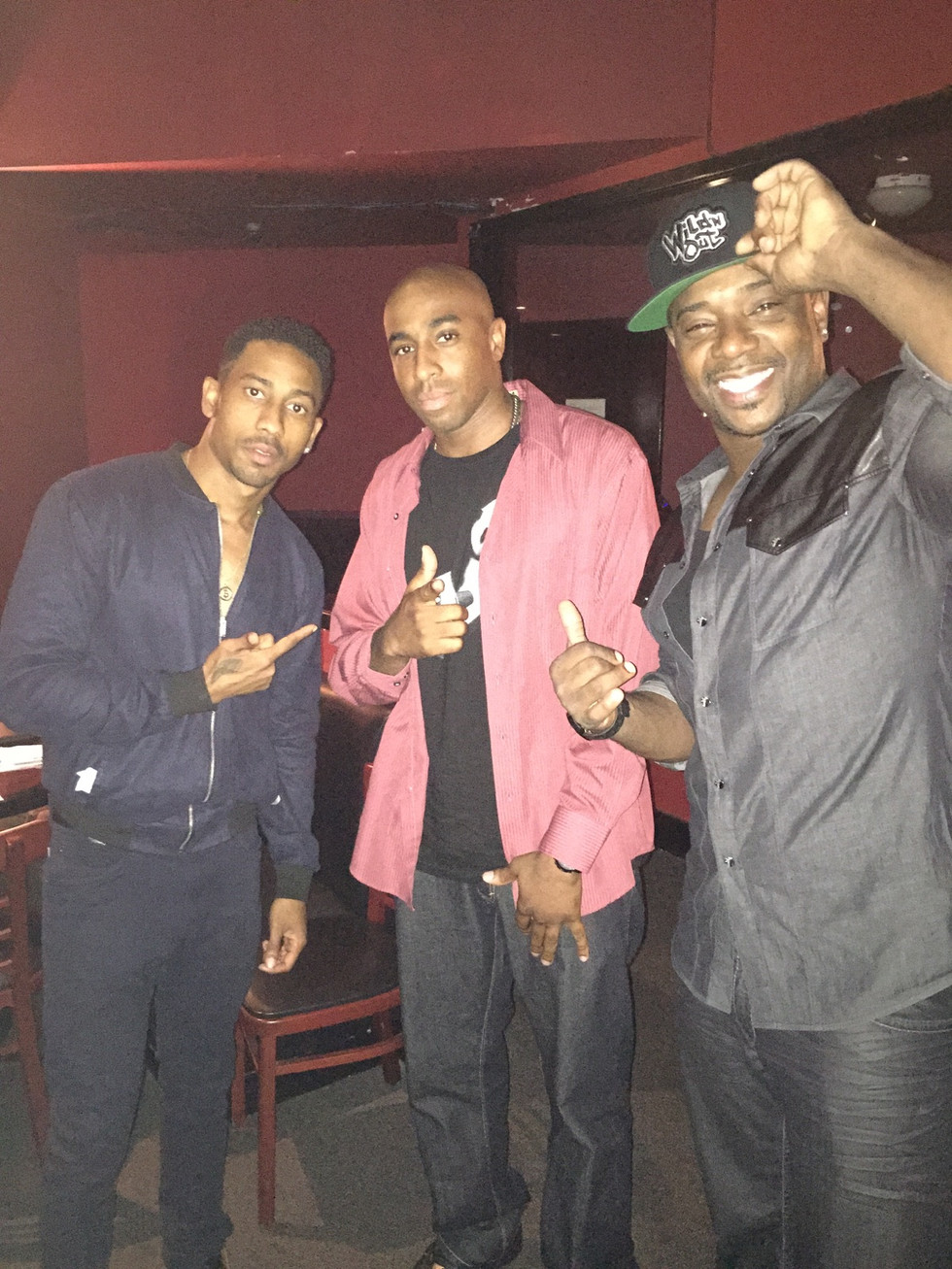 Brandon T. Jackson, Rip Mmicheals and Daryl Carter of Nvision Studios