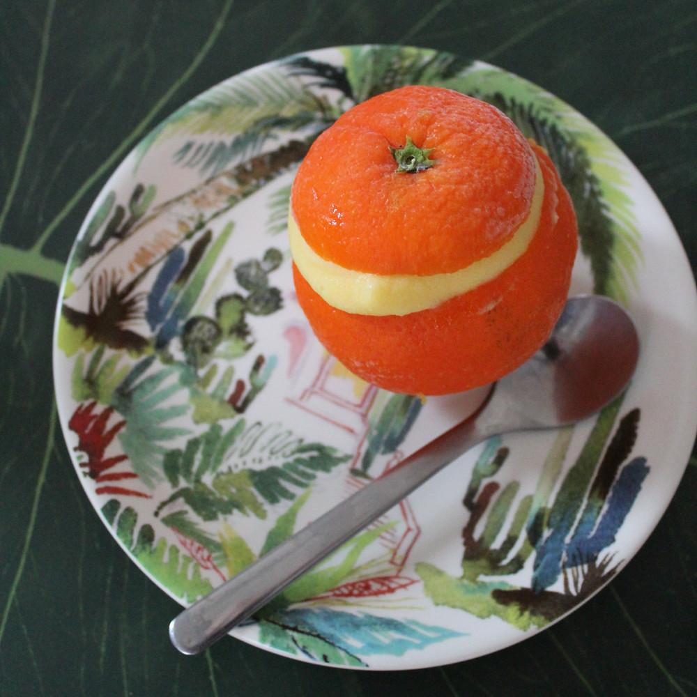 Loïs CLEMENT TACHER dessert givré orange conseil de Nutritionniste biarritz bayonne anglet