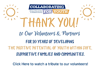 to Our Volunteers & Partners For 20 Year