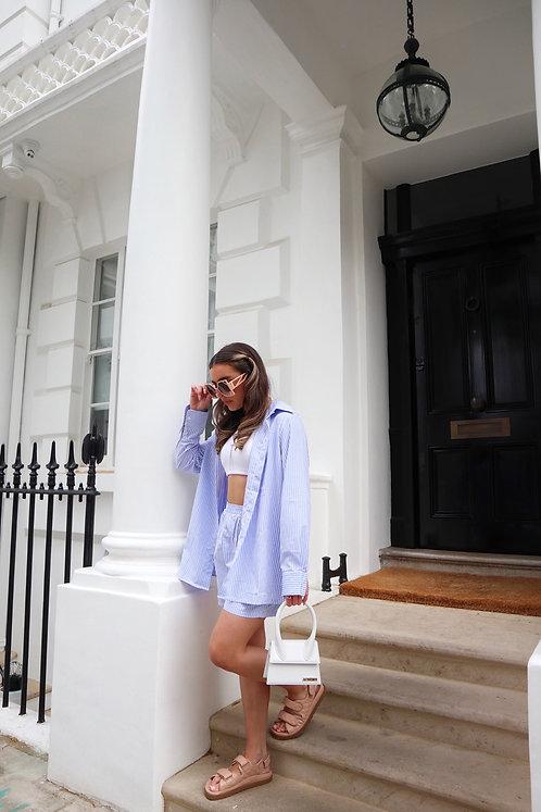 Relaxed Stripe Shirt & Short Set