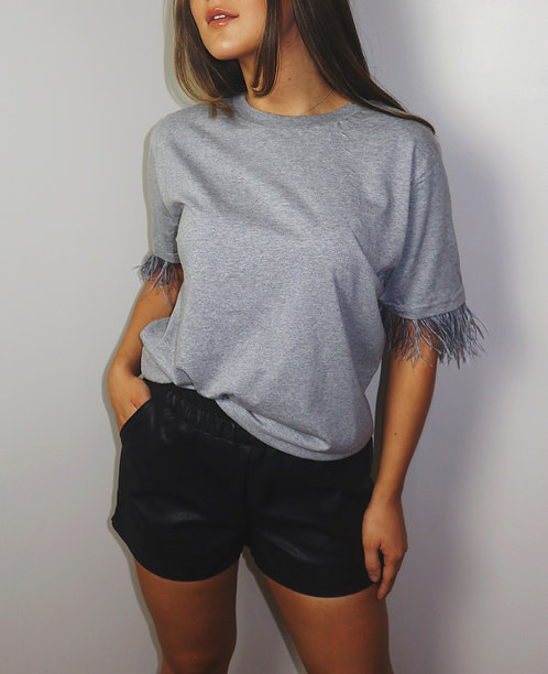 Whatever The Faux Leather Shorts