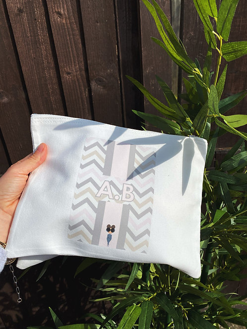 Zig Zag Personalised Pouch
