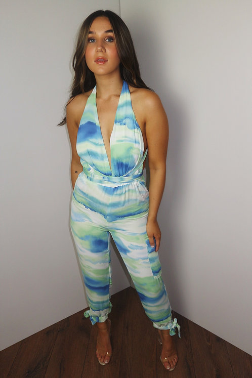To Tie Dye For Jumpsuit Green