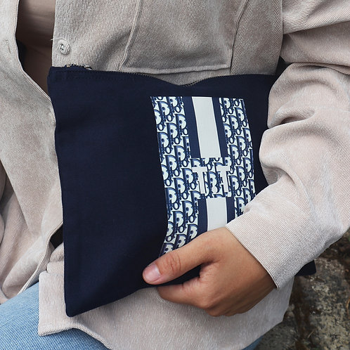 Navy Baby Personalised Pouch
