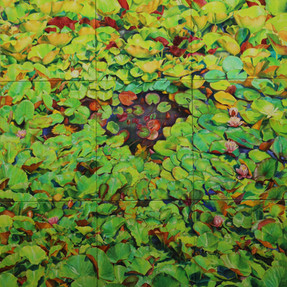 Der unendliche Garten 2017/18 Öl auf Leinwand 300 x 240 cm
