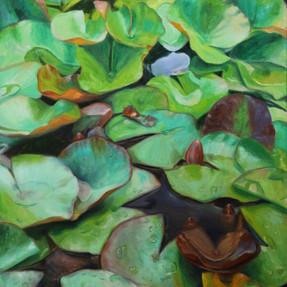 Wassergarten II 2018 Öl auf Leinwand 75 x 60 cm