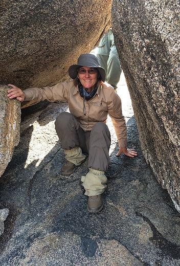 Sue Tidwell author exploring in Tanzania on hunting safari adventure in Africa