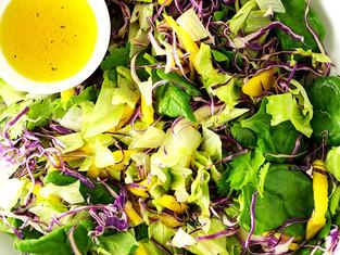 Salada Tropical com Vinagrete de Laranja - Na Cozinha com Vitória Tembe
