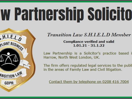 Law Partnership Solicitors awarded SHIELD!