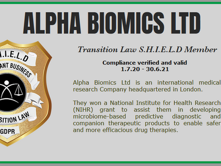 CONGRATULATIONS TO NEW  SHIELD HOLDERS ALPHA BIOMICS LTD