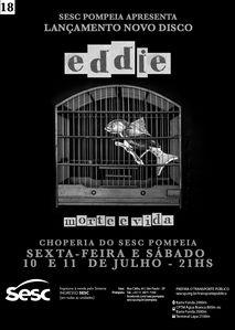 Capa e campanha disco Morte e Vida  Banda Eddie