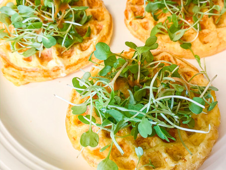 The StressLess Chaffle with Microgreens