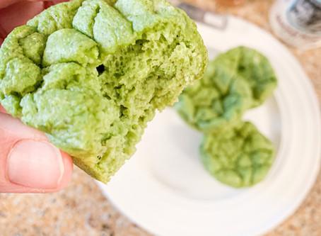 Green Machine Protein Crinkle Muffins