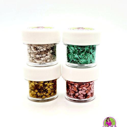 Edible Glitter Shimmer Shape 4-Pak by Ro Z's