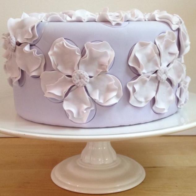 Flowery Lavendar Cake