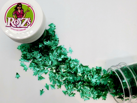 new edible glitter Green Trees