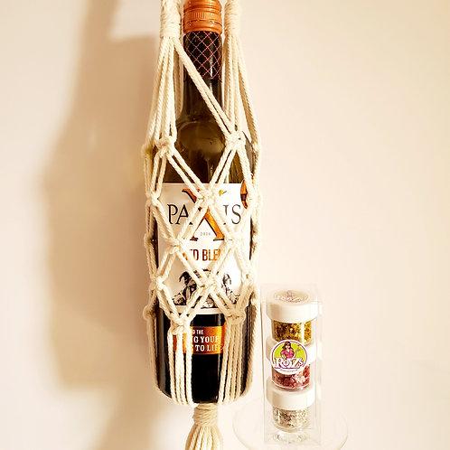 Boho Wine Tote w/ Ro Z's 3-pak Shimmers